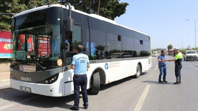 Bus destinations and time in Alanya