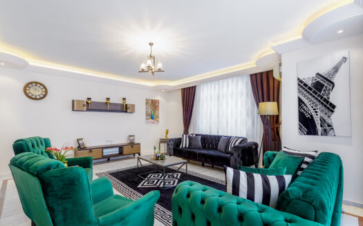 Furnished apartment for sale in Mahmutlar