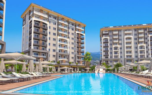 Luxury apartments for sale in a residential project